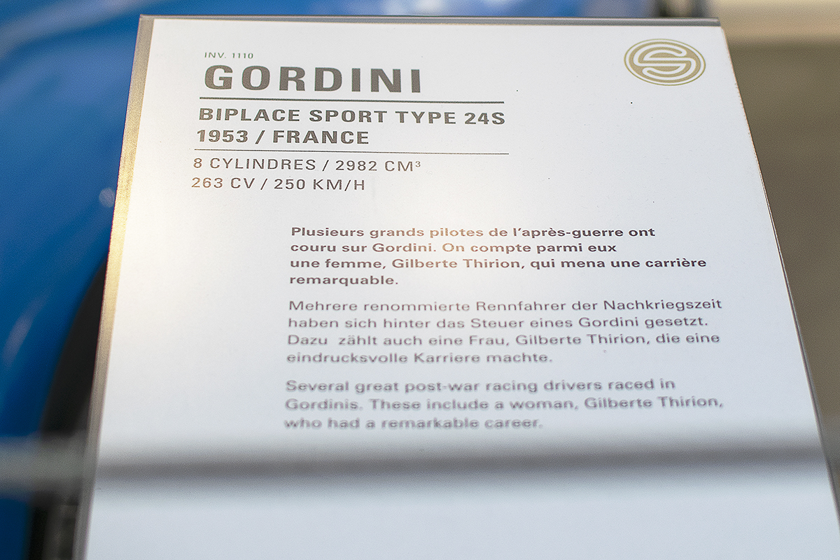 Gordini 24S 1953 - Cité de l'automobile, Collection Schlumpf, Mulhouse, 2020