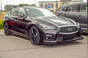 Infiniti Q50 Red Sport - Cars & Coffee Deluxe Luxembourg Mai 2019