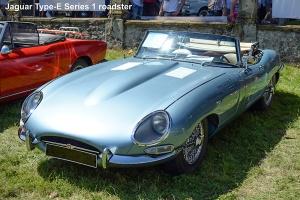 Jaguar type E Série 1 roadster 1962 - Automania 2016, Château de Freistroff