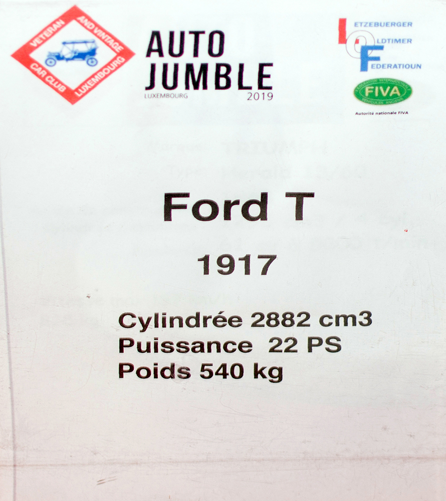 Ford T 1917 - LOF, Autotojumble, Luxembourg, 2019