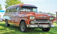 Chevrolet Task Force Apache Bus - Retro Meus'Auto 2018, Lac de la Madine
