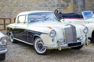 Mercedes-Benz W128 220SE ponton coupe 1960 - Automania 2017, Manderen, Château de Malbrouck